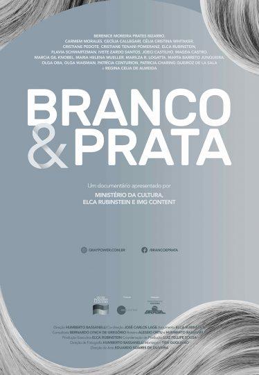 cartaz branco e prata